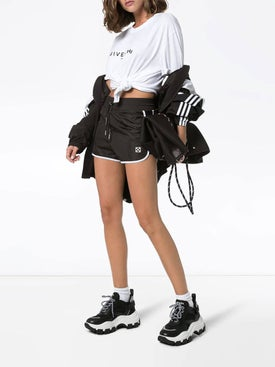 Off-white - High-waisted Boxing Shorts - Women
