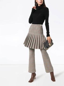 Off-white - Pleated Checked Mini Skirt - Women