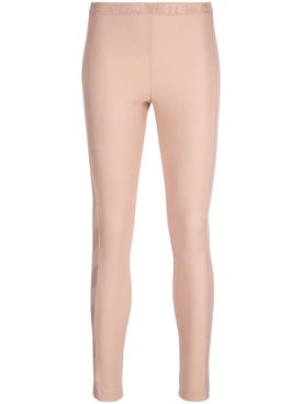 Off-white - Diagonal Stripe Print Leggings Nude - Women