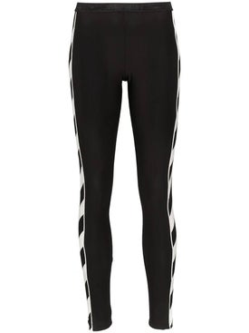 Off-white - Diagonal Stripe Print Leggings Black - Women