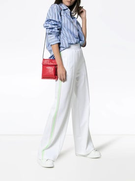 Off-white - Wide Leg Side Stripe Track Pants White - Women