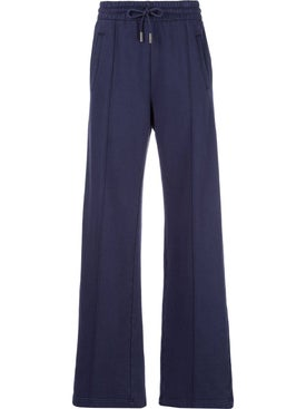 Off-white - Flared Drawstring Track Pants Blue - Women