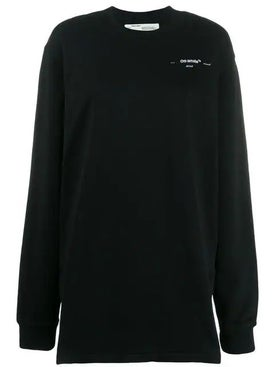 Off-white - Oversized Printed Sweatshirt Dress Black - Women