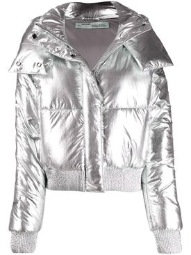 Off-white - Metallic Puffer Jacket - Women