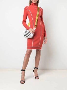 Off-white - Atheletic Logo Turtleneck Fitted Dress - Women