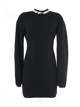Off-white - Industrial Knit Mini Dress Black - Women