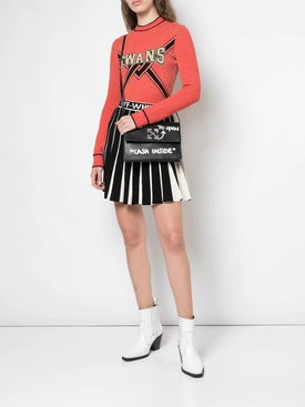 Off-white - Contrasting Pleated Tennis Skirt - Women