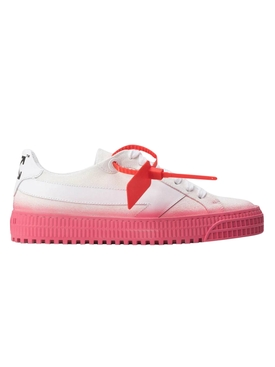 White and pink vulcanized sneakers