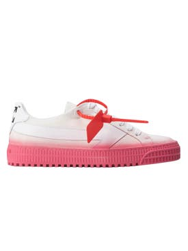 Off-white - White And Pink Vulcanized Sneakers - Women