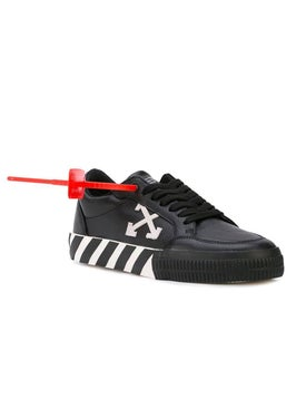 Off-white - Low Top Vulcanized Trainers Black & White - Women