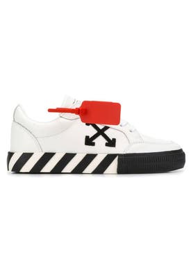 Off-white - Low Top Vulcanized Trainers White & Black - Women