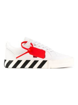 Off-white - White Canvas Arrow Vulcanized Low Sneakers - Women