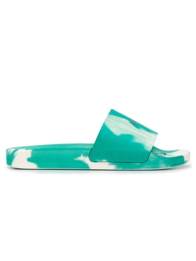 Green ti-dye pool slide