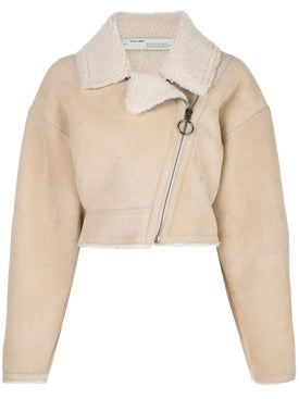 Off-white - Cropped Shearling Jacket - Women