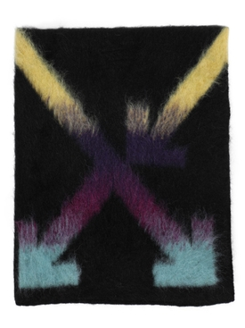Black multicolored arrow scarf
