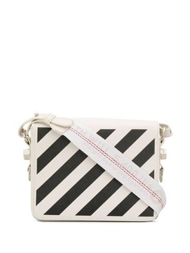 Off-white - Diagonal Stripe Binder Bag Off-white & Black - Women