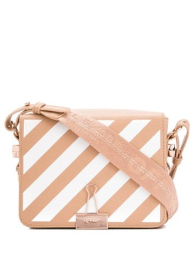 Off-white - Diagonal Stripe Binder Bag Nude & White - Women