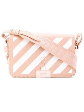 Off-white - Diagonal Binder Crossbody Bag Nude And White - Women