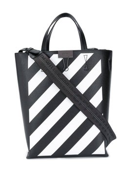 Off-white - Binder Clip Diagonal Striped Tote - Women