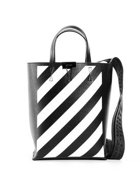 Off-white - Black & White Diagonal Stripe Tote Bag - Women