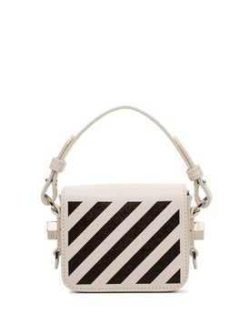 Off-white - Baby Flap Diagonal-stripe Shoulder Bag White - Women
