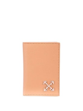 Off-white - Silver-tone Logo Plaque Wallet - Women
