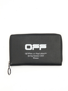 Black zip-around continental wallet