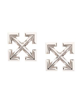Off-white - Big Arrow Earring Silver - Women