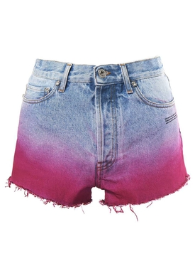 DEGRADE DENIM SHORTS