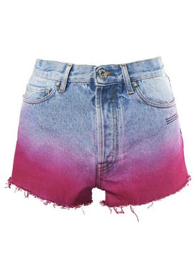 Off-white - Degrade Denim Shorts - Women