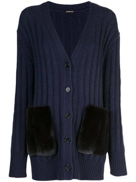 Adam Lippes - Navy Ribbed Cardigan - Tops
