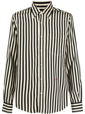 Black and ivory striped shirt
