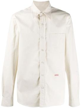 Ivory classic button-down shirt