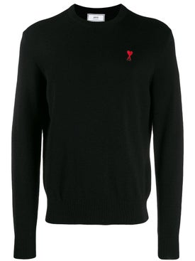 Ami Alexandre Mattiussi - Wool Crew Neck Sweater Black - Men
