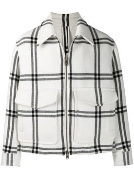 Ami Alexandre Mattiussi - Black And White Wool Blend Jacket - Men
