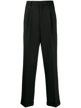 Pleated wide leg pants BLACK
