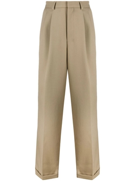 Ami Alexandre Mattiussi - Pleated Wide Leg Pants Mastic - Men