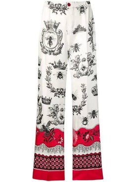 For Restless Sleepers - Printed Palazzo Trousers - Women