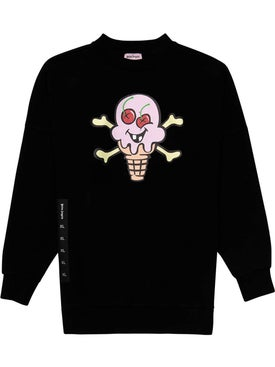 Palm Angels - Palm Angels X Icecream Black Skull Crewneck Sweatshirt - Men