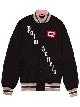 Palm Angels - Palm Angels X Icecream Skull Varsity Jacket Black - Short