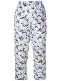 Marni - Printed Cropped Trousers - Women
