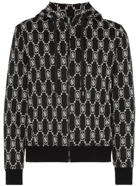 Neil Barrett - Black And White Monogram Hoodie - Men