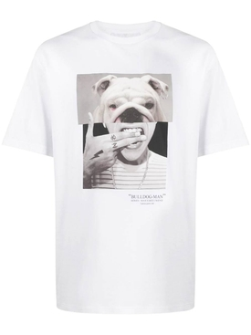 Bulldog graphic t-shirt WHITE