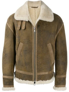 Neil Barrett - Oversized Shearling Leather Jacket - Men