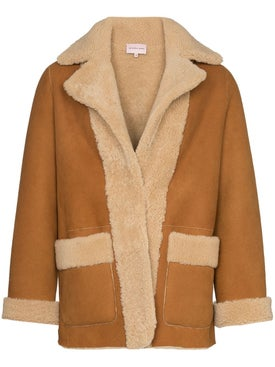 Duo - Graphic Print Sheepskin Jacket - Men