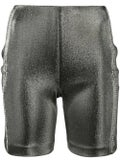 Area - Gunmetal Lamé Bike Short - Women