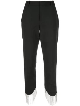 Area - High-waist Embellished Trousers - Women