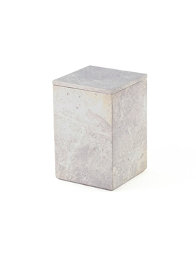 L'indochineur - Natural Stone Square Box Grey - Home