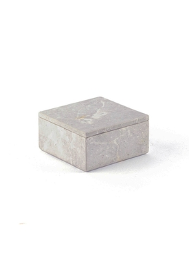Natural stone medium square box GREY