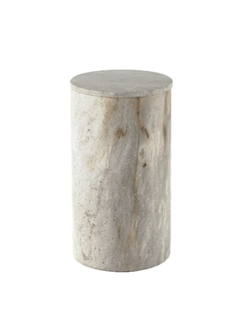 Cylindrical Stone Box GREY